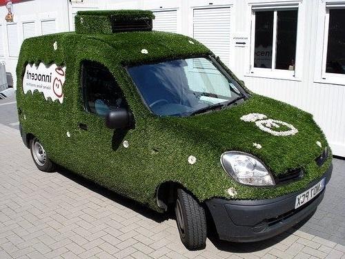 Газон на колёсах-креативная идея для малого бизнеса