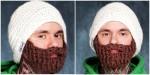 Креативная бизнес идея-шапка с бородой вязаная