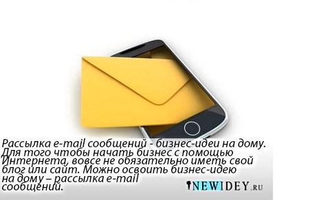 Рассылка email сообщений – бизнес идеи на дому