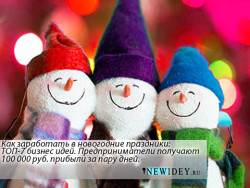 Как заработать в новогодние праздники: ТОП-7 бизнес идей