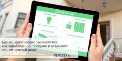 Бизнес-идея нового тысячелетия: как заработать на продаже и установке систем «умный дом»