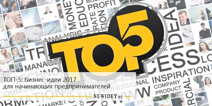ТОП-5: бизнес-идеи 2017 для начинающих предпринимателей