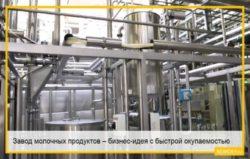 Завод молочных продуктов – бизнес-идея с быстрой окупаемостью